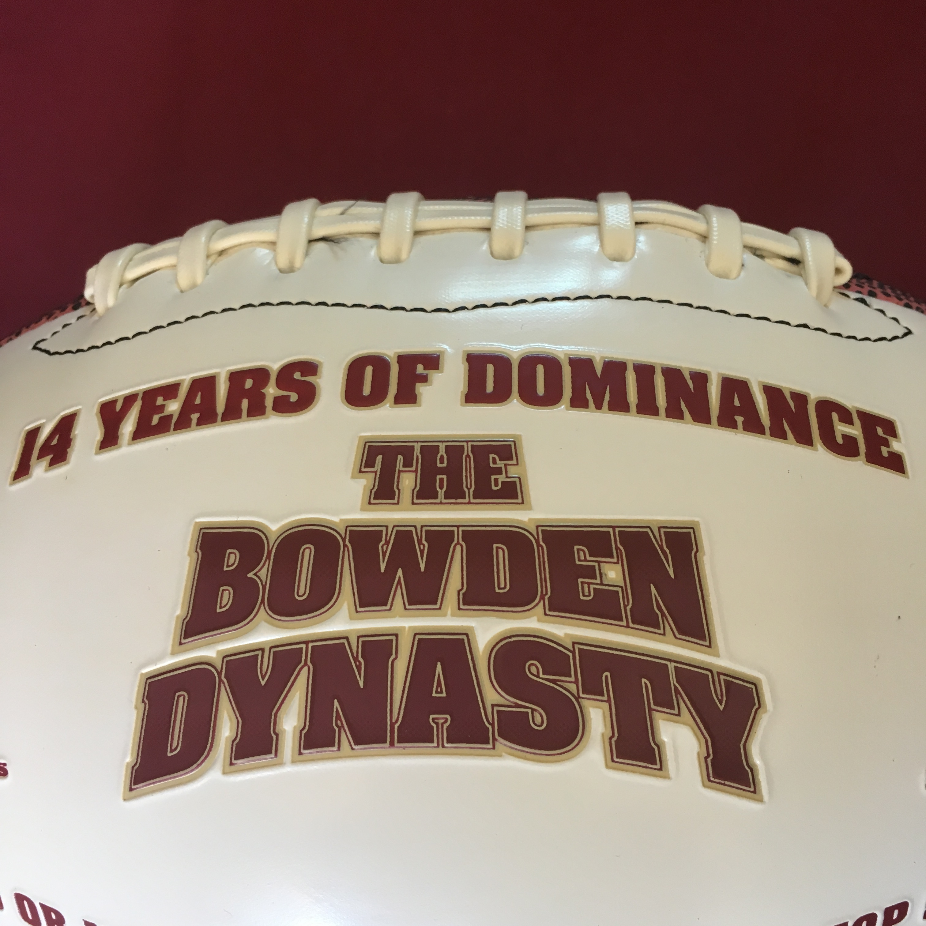 Special bobby bowden autographed dynasty football the for House of dynasty order online